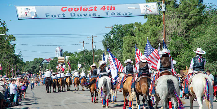 The Fourth of July parade in Fort Davis.