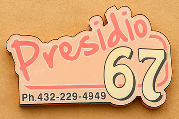Sign of Presidio 67